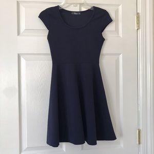 Pinc navy cap sleeve skater dress